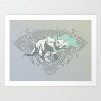 Fearless Creature: Frill Art Print