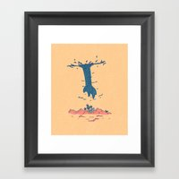 The Guy Above Framed Art Print