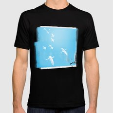 Flock of Birds SMALL Black Mens Fitted Tee