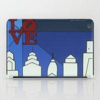 Blue LOVE Shine iPad Case