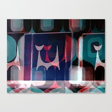 Atomic Cat And A Pattern Canvas Print