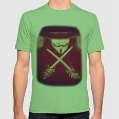 V for Vendetta4 Mens Fitted Tee Grass SMALL