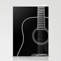 Guitar BW Stationery Cards