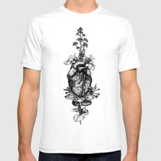 IN BLOOM #03 Mens Fitted Tee White SMALL
