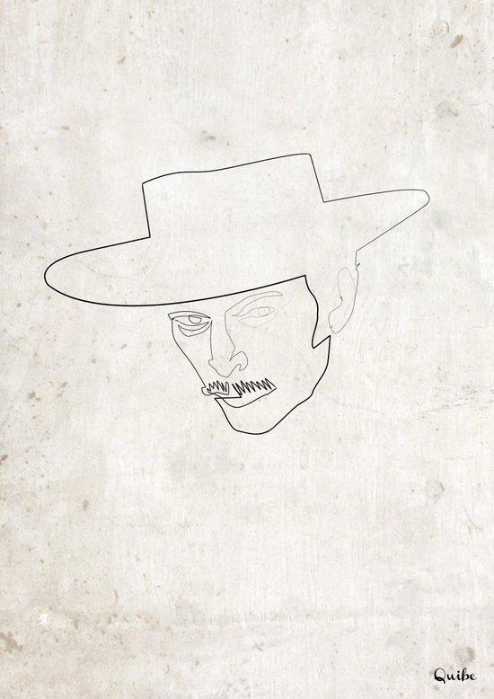 One line Lee Van Cleef Canvas Print