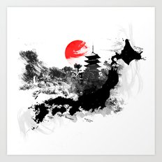 Abstract Kyoto - Japan Art Print