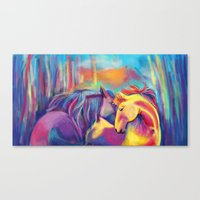 Horse Love Painting Canvas Print