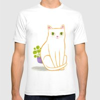 Discrepancies Mens Fitted Tee White SMALL