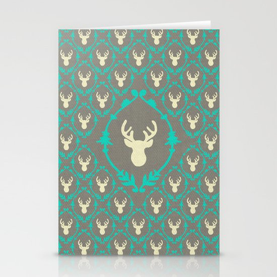 Oh Deer (white) Stationery Card