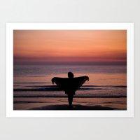 Sunset In Sperlonga Art Print