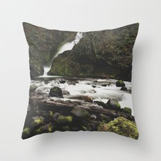 Lower Bridal falls Throw Pillow