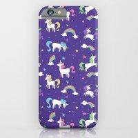 Unicorns and Rainbows - Purple iPhone 6 Slim Case