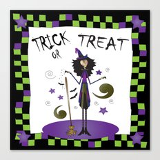 Trick Or Treat Witch Canvas Print