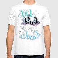 Little Black Rain Cloud Mens Fitted Tee White SMALL