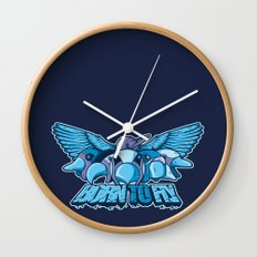 BORN TO FLY Wall Clock