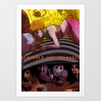 Horror Movies; Home Alon… Art Print