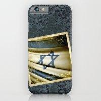 Israel grunge sticker flag iPhone 6 Slim Case