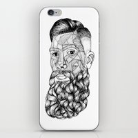 beard lovely iPhone & iPod Skin