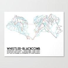 Whistler Blackcomb, BC, Canada - Minimalist Trail Map Canvas Print