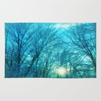 Landscape ~ Winter sunset Rug