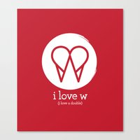 I Love W Canvas Print