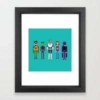 Teenage Superheroes Framed Art Print