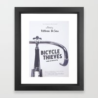 Bicycle Thieves - Movie Poster for De Sica's masterpiece. Neorealism film, fine art print. Framed Art Print