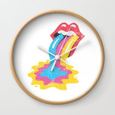 POP Lick Wall Clock