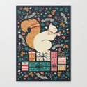 Merry Little Squirrel  Canvas Print