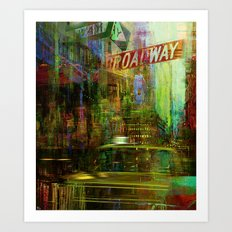 Noise never sleeps in this city Art Print