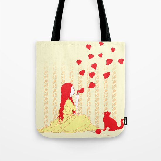 Bubbly Hearts Tote Bag