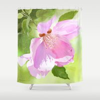 Apple Blossom Three Shower Curtain