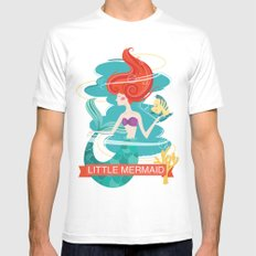 Little Mermaid Mens Fitted Tee White SMALL
