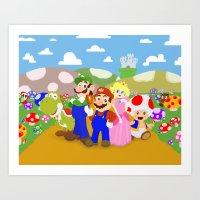 Mario & Friends Art Print
