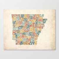 Arkansas by County Canvas Print