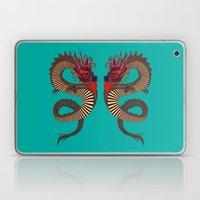 DRAGON INK turquoise Laptop & iPad Skin