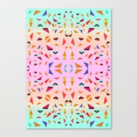 Triangle Tropical Confetti  Canvas Print