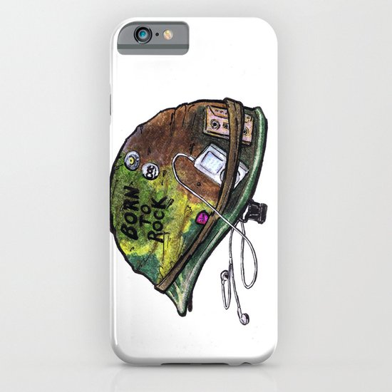 """Born to Rock"" by Cap Blackard iPhone & iPod Case"