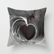 Heart Black Throw Pillow