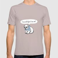Hipster polarbear Mens Fitted Tee Cinder SMALL
