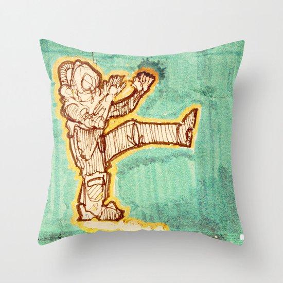 Astrokick. Throw Pillow