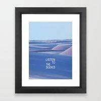 Listen to the Silent #3 Framed Art Print