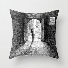 Light - Black ink Throw Pillow