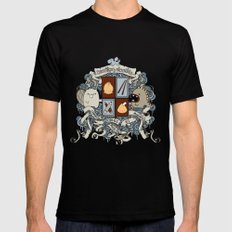 All Doodles Great & Small Mens Fitted Tee Black SMALL