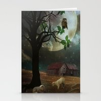 By the Moon Light Stationery Cards