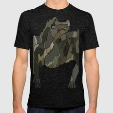 Mellifluous Crocodiles Mens Fitted Tee Tri-Black SMALL