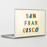 san francisco Laptop & iPad Skins featuring San Francisco by Fimbis