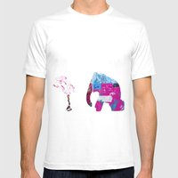 Set Up Mens Fitted Tee White SMALL