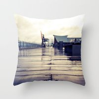 Olympia Waterfront  Throw Pillow