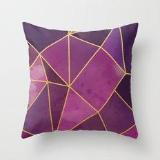 Shattered Tourmaline - Magenta Throw Pillow